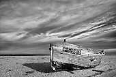 Dungeness - Abandoned Fishing Industry black and white photographic images for sale