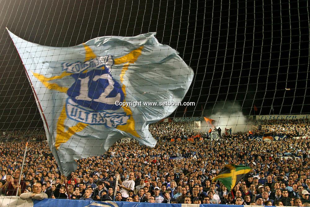 = match footbal Olympique de marseille against  lyon supporters  France ////Football game OM Lyon    Marseille  France  +/L0008554