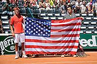 Tommy PAUL / Taylor Harry FRITZ  - 06.06.2015 - Jour 14 - Roland Garros 2015<br />Photo : Nolwenn Le Gouic / Icon Sport