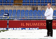 © Andrew Fosker / Seconds Left Images 2012 - Stuart Lancaster (England Coach) takes a look at the snow covered pitch prior to  Italy v England 11/02/2012 - RBS 6 Nations - Stadio Olimpico - Rome - Italy -  All rights reserved