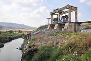 Israel, Jordan Valley, Isle of Peace at the (now unused) Naharaim Hydroelectric plant on the Israeli Jordanian border