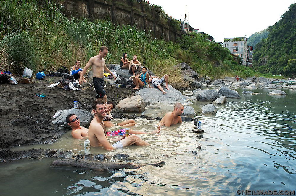 I really can't think of a better way to end a hike than soaking in a wild hot spring with friends and beers!