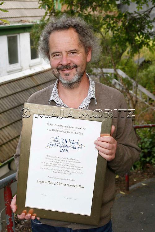 Fergus Barrowman, Publisher at Victoria University Press, Wellington, New Zealand