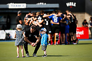 Black Sticks Coach Darren Smith with his kids at the final game of the Black Sticks v Canada Test Matches 21 October 2018. Copyright photo: Alisha Lovrich / www.photosport.nz