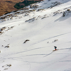 Bridget Gibson in action on the Flypaper at the Freeride World Tour Coe Cup in Glencoe (c) ROSS EAGLESHAM | Sportpix.co.uk