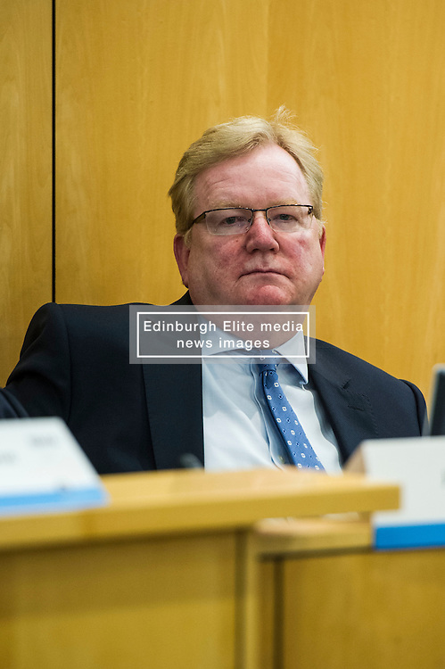 Pictured: Jackson Carlaw (Conservative)<br /> <br /> Health spokemen and women participated in the BMA's Scotland health hustings tonight in Edinburgh. Among those attending were Shona Robison, Jenny Marra, Jim Hume, Alison Johnstone and Jackson Carlaw. Staff from all levels in the NHS took the opportunity to challenge the health spokepersons on what they would do if elected in the General Election next month<br /> <br /> Ger Harley | EEm 23 March 2016