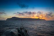 Portugal, Madeira, Ilhas Selvagens, 2016/07/10:Panor&acirc;mica da Selvagem Grande vista do navio patrulha da Marinha Portuguesa,  N.R.P. Cacine.<br /> Foto:Greg&oacute;rio Cunha