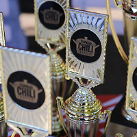 Trophies for this Tupelo Chilifest syand ready to be handed out in a variety of categories.