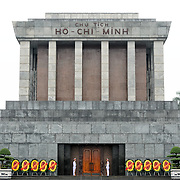 A large memorial in downtown Hanoi surrounded by Ba Dinh Square, the Ho Chi Minh Mausoleum houses the embalmed body of former Vietnamese leader and founding president Ho Chi Minh.