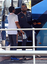AU_1438304 - Perth, AUSTRALIA  -  The Indian cricket team seen departing Perth Airport in Perth, Western Australia<br />