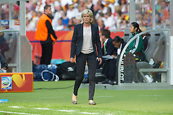 26.06.2011, Olympiastadion Berlin, Berlin, GER, FIFA Women's Worldcup 2011, Gruppe A,  Deutschland (GER) vs. Canada (CAN), im Bild  Silvia Neid (Trainerin / COACH GER ) sichtlich genervt  // during the FIFA Women's Worldcup 2011, Pool A, Germany vs Canada on 2011/06/26, Olympiastadion, Berlin, Germany.   EXPA Pictures © 2011, PhotoCredit: EXPA/ nph/  Kokenge       ****** out of GER / SWE / CRO  / BEL ******