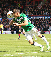 Picture by David Horn/Focus Images Ltd +44 7545 970036.27/04/2013.Dean Furman of Doncaster Rovers clear the ball during the npower League 1 match at Griffin Park, London.