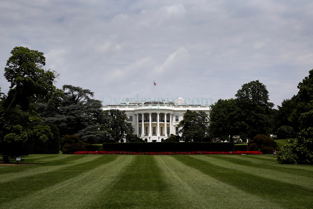 28 June 2013. The White House, Washington DC. <br /> View from the rear of the White House in Washington DC. Home to the President of the United States of America. <br /> Photo©; Charlie Varley