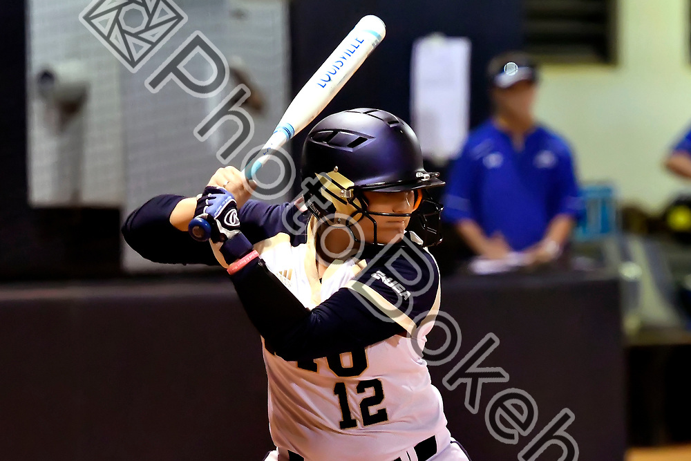 2018 February 09 - FIU's Julia Gilbert (12). Florida International University softball fell to Hofstra, 5-0, at Felsberg Field, Miami, Florida. (Photo by: Alex J. Hernandez / photobokeh.com) This image is copyright by PhotoBokeh.com and may not be reproduced or retransmitted without express written consent of PhotoBokeh.com. ©2018 PhotoBokeh.com - All Rights Reserved