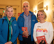 REPRO FREE:   Galway 2020 team Hannah Kiely, CEO, Fintan Maher, Communications Director Marilyn Gaughan Reddan, Programme and European Funding Manager in Hotel Meyrick for the announcement of the programme for the 2018 Galway International Arts Festival Programme 16-29 July which features an exciting Irish and international programme of theatre, opera, dance, circus, music, spectacle, visual art, and First Thought Talks featuring interviews and discussions on the theme of home, six world premieres, five Irish premieres and artists and theatre makers from across the world. Highlights include world premieres of Paul Muldoon's Incantata, new plays by Sonya Kelly and Cristin Kehoe (Druid) and a new theatre installation from Enda Walsh, visual arts / installations commissions from David Mach Rock 'n' Roll and Olivier Grossetête The People Build. Photo:Andrew Downes, xposure.