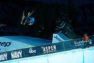 David Wise during Ski Superpipe Practice at 2014 X Games Aspen at Buttermilk Mountain in Aspen, CO. ©Brett Wilhelm/ESPN