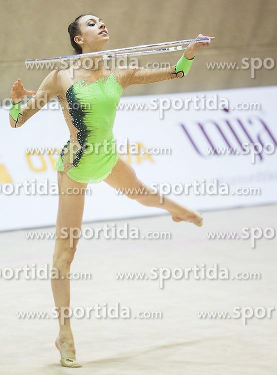 Veronica Minezzi of Italy competes during 27th MTM - International tournament in rhythmic gymnastics Ljubljana, on April 19, 2014 in Arena Krim, Ljubljana, Slovenia. Photo by Vid Ponikvar / Sportida