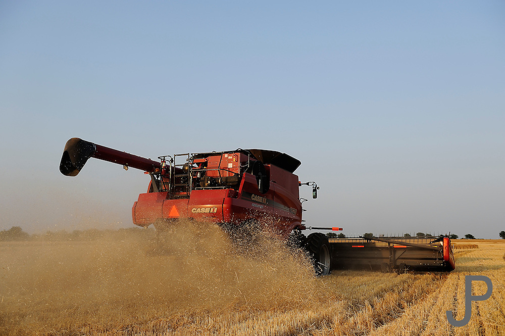Wheat harvest at Loren and Steve Pollard farm near Crescent