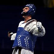 Roma 01/06/2018 Stadio Pietrangeli<br /> World Taekwondo Gran Prix<br /> il russo Vladislav Larin vincitore della categoria +80 kg