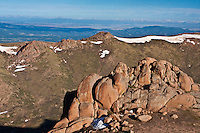 These large boulders of Pikes Peak granite are found along the west side of the Pikes Peak Highway.  Colorado
