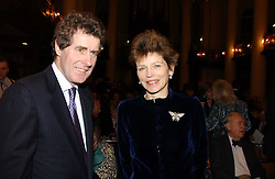 MR JAMIE DUNDAS Chairman of Macmillan Cancer Relief The COUNTESS OF HALIFAX at the annual House of Lords & House of Commons Parliamentary Palace of Varieties at St.John's Smith Square, London on 27th January 2005.<br /><br />NON EXCLUSIVE - WORLD RIGHTS