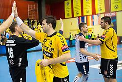 Klemen Cehte of Gorenje after the handball match between RK Gorenje Velenje and SG Flensburg-Handewitt (GER) in 10th Round of EHF Champions League 2013/14 on February 22, 2014 in Rdeca dvorana, Velenje, Slovenia. Photo by Vid Ponikvar / Sportida
