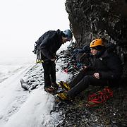 Sigurður Tómas Þórisson and Róbert Halldórsson at Flögugil, Breiðdalur, East Iceland.