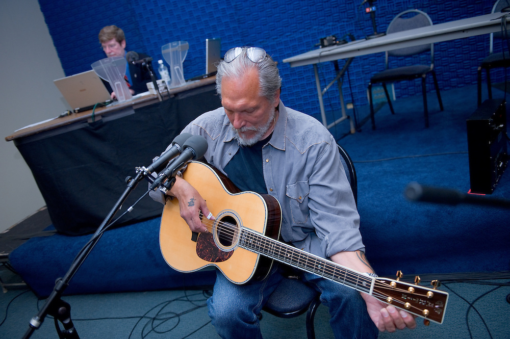 "19086WOUB ""Talk of the Nation""...Jorma Kaukonen,Legendary Guitar Player,  and Neil Conan(in back)"