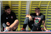 Romain TAOFIFENUA / David SMITH - 10.01.2015 - Toulon / Racing Metro - 16e journee Top 14<br />Photo : Jc Magnenet / Icon Sport