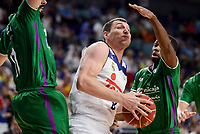Real Madrid's Jonas Maciulis and Unicaja Malaga's Oliver Lafayette during semi finals of playoff Liga Endesa match between Real Madrid and Unicaja Malaga at Wizink Center in Madrid, May 31, 2017. Spain.<br /> (ALTERPHOTOS/BorjaB.Hojas)