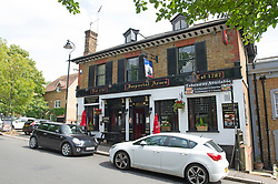 ©Licensed to London News Pictures 03/07/2020     <br /> Chislehurst, UK. The Imperial Arms pub and courtyard bistro in Chislehurst, South East London is preparing to open its doors again after three months of coronavirus lockdown.  Photo credit: Grant Falvey/LNP