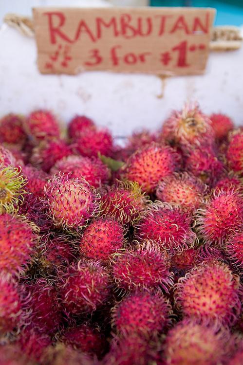 Rambutan, a tropical fruit grown on Kauai