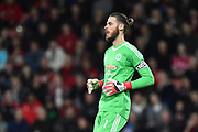 David De Gea (1) of Manchester United during the Premier League match between Bournemouth and Manchester United at the Vitality Stadium, Bournemouth, England on 18 April 2018. Picture by Graham Hunt.
