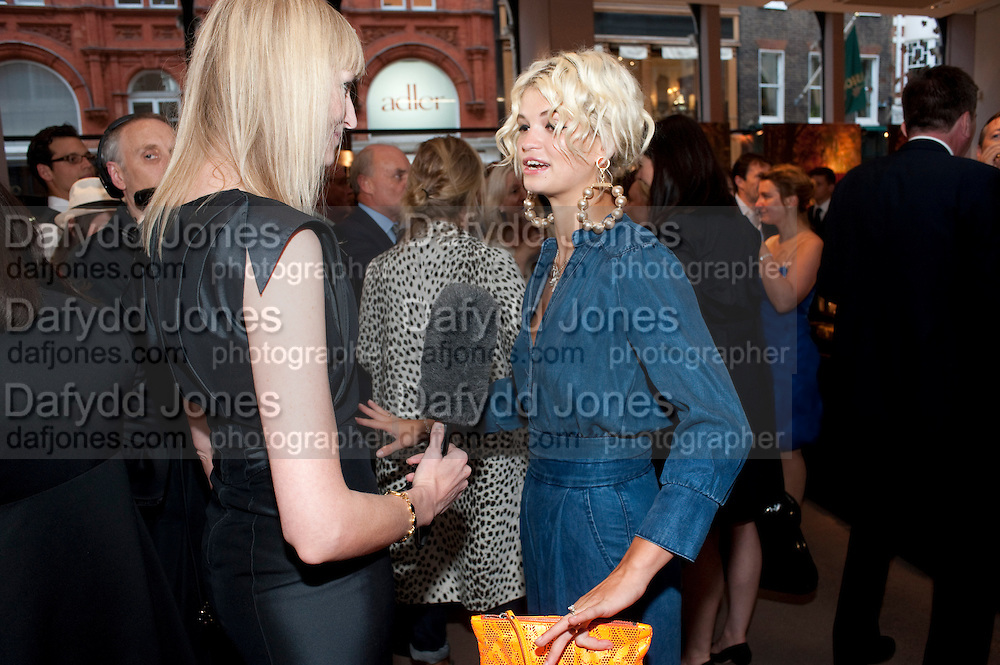 JADE PARFITT; PIXIE GELDOF,  Vogue Fashion night out.- Alexandra Shulman and Paddy Byng are host a party  to celebrate the launch for FashionÕs Night Out At Asprey. Bond St and afterwards in the street. London. 8 September 2011. <br />  <br />  , -DO NOT ARCHIVE-© Copyright Photograph by Dafydd Jones. 248 Clapham Rd. London SW9 0PZ. Tel 0207 820 0771. www.dafjones.com.<br /> JADE PARFITT; PIXIE GELDOF,  Vogue Fashion night out.- Alexandra Shulman and Paddy Byng are host a party  to celebrate the launch for Fashion's Night Out At Asprey. Bond St and afterwards in the street. London. 8 September 2011. <br />  <br />  , -DO NOT ARCHIVE-© Copyright Photograph by Dafydd Jones. 248 Clapham Rd. London SW9 0PZ. Tel 0207 820 0771. www.dafjones.com.