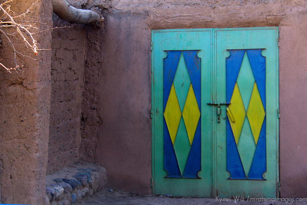 Africa, Morocco, Skoura. Moroccan Door Design.