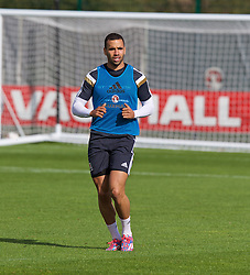 NEWPORT, WALES - Wednesday, October 8, 2014: Wales' Hal Robson-Kanu training at Dragon Park National Football Development Centre ahead of the UEFA Euro 2016 qualifying match against Bosnia and Herzegovina. (Pic by David Rawcliffe/Propaganda)