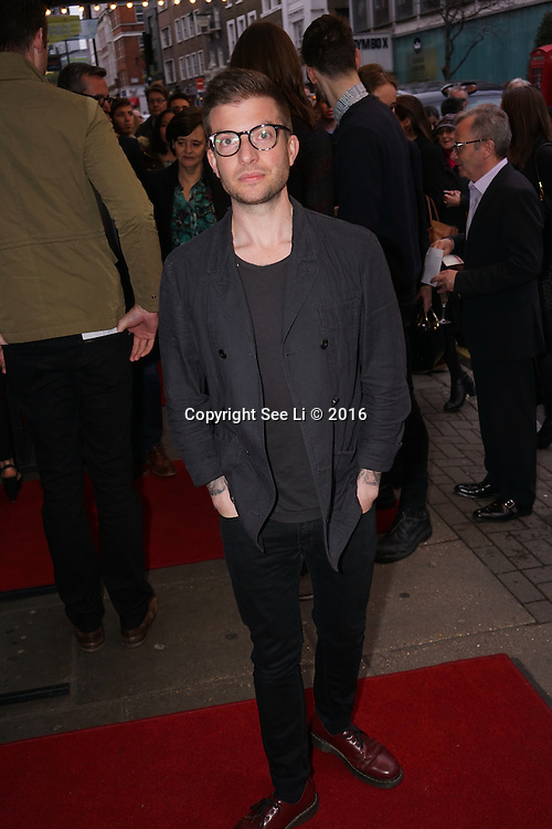 London,England, UK : 25th April 2016 : Jamie Lloyd attend the Doctor Faustus – Gala Opening Night at the Duke of York's Theatre, St Martin's Lane , London. Photo by See Li