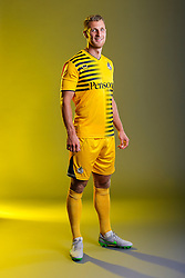 Lee Brown of Bristol Rovers poses in the new Away Strip ahead of the 2015/16 Sky Bet League Two campaign - Mandatory byline: Rogan Thomson/JMP - 07966 386802 - 22/07/2015 - SPORT - Football - Bristol, England - Memorial Stadium - Bristol Rovers Kit Launch.