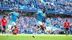 22.09.2013, Etihad Stadion, Manchester, ENG, Premier League, Manchester City vs Manchester United, 5. Runde, im Bild Manchester City's Yaya Toure celebrates scoring the second goal against in added time of the first half against Manchester United during the English Premier League 5th round match between Manchester City and Manchester United at the Etihad Stadium, Manchester, Great Britain on 2013/09/22. EXPA Pictures © 2013, PhotoCredit: EXPA/ Propagandaphoto/ David Rawcliffe<br /> <br /> ***** ATTENTION - OUT OF ENG, GBR, UK *****