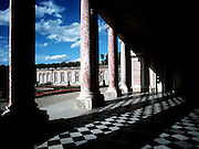 The courtyard at the Royal Palace in Versaille, France.