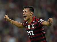 2019-10-20 Rio de Janeiro, Brazil soccer match between the teams of Flamengo and Fluminense , validated by the Brazilian Football Championship .in the photo Reanier of Flamengo  club celebrates his goal Photo by André Durão / Swe Press Photo
