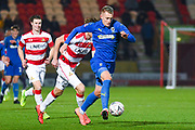 AFC Wimbledon forward Joe Pigott (39) during the The FA Cup match between Doncaster Rovers and AFC Wimbledon at the Keepmoat Stadium, Doncaster, England on 19 November 2019.