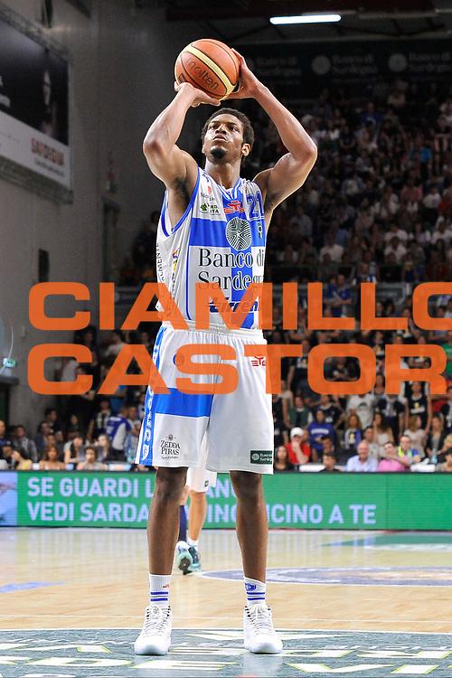 DESCRIZIONE : Campionato 2014/15 Dinamo Banco di Sardegna Sassari - Umana Reyer Venezia<br /> GIOCATORE : Jeff Brooks<br /> CATEGORIA : Tiro Libero<br /> SQUADRA : Dinamo Banco di Sardegna Sassari<br /> EVENTO : LegaBasket Serie A Beko 2014/2015<br /> GARA : Dinamo Banco di Sardegna Sassari - Umana Reyer Venezia<br /> DATA : 03/05/2015<br /> SPORT : Pallacanestro <br /> AUTORE : Agenzia Ciamillo-Castoria/C.Atzori