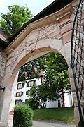 Tor, Schloss Wilhelmsburg, Schmalkalden, Thüringen, Deutschland.|.Schloss Wilhelmsburg, Schmalkalden, Thuringia, Germany