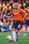 Luke Guttridge  of Luton Town during the Sky Bet League 2 match at Kenilworth Road, Luton<br /> Picture by David Horn/Focus Images Ltd +44 7545 970036<br /> 25/10/2014