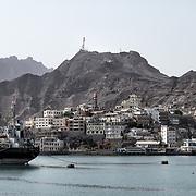 Vue du quartier de Tawahi à Aden et de Little Big Ben, le 12 juin 2017.