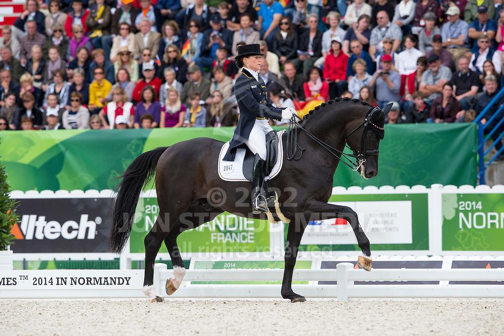 Kristina Sprehe, (GER), Desperados FRH - Grand Prix Special Dressage - Alltech FEI World Equestrian Games&trade; 2014 - Normandy, France.<br /> &copy; Hippo Foto Team - Leanjo de Koster<br /> 25/06/14
