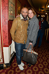 GOLDIE and MIKA WASSENAAR at a gala performance of 'Once The Musical' in aid of Oxfam held at the Phoenix Theatre, 110 Charing Cross Road, London on 17th March 2014.