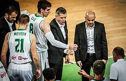 during basketball match between KK Petrol Olimpija and medi Bayreuth in 6th Round of FIBA Basketball Champions League 2018/19, on November 13, 2018 in Arena Stozice, Ljubljana, Slovenia. Photo by Vid Ponikvar / Sportida