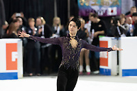 KELOWNA, BC - OCTOBER 26: Men's gold medalist Yuzuru Hanyu of Japan skates onto the ice during medal ceremonies of Skate Canada International held at Prospera Place on October 26, 2019 in Kelowna, Canada. (Photo by Marissa Baecker/Shoot the Breeze)